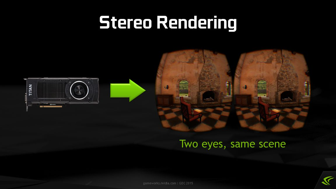 gameworks.nvidia.com | GDC 2015 Stereo Rendering Two eyes, same scene