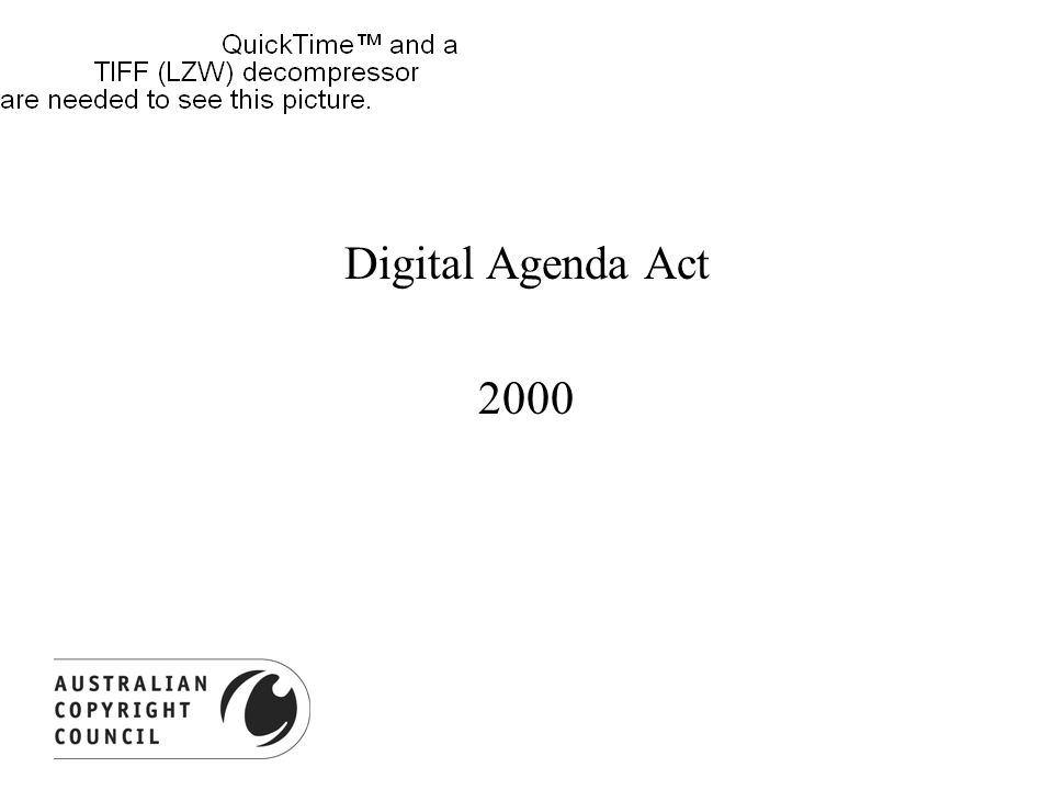 Digital Agenda Act 2000