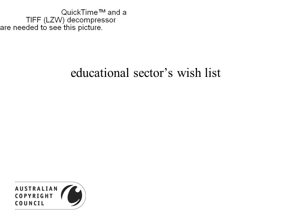 educational sector's wish list