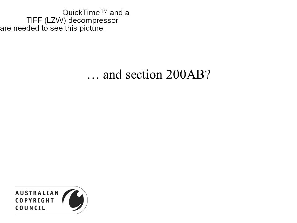 … and section 200AB