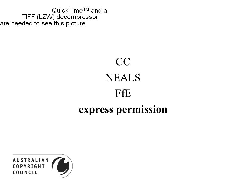 CC NEALS FfE express permission