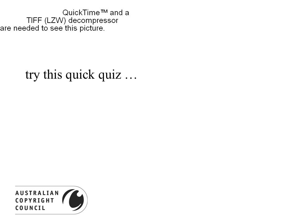 try this quick quiz …