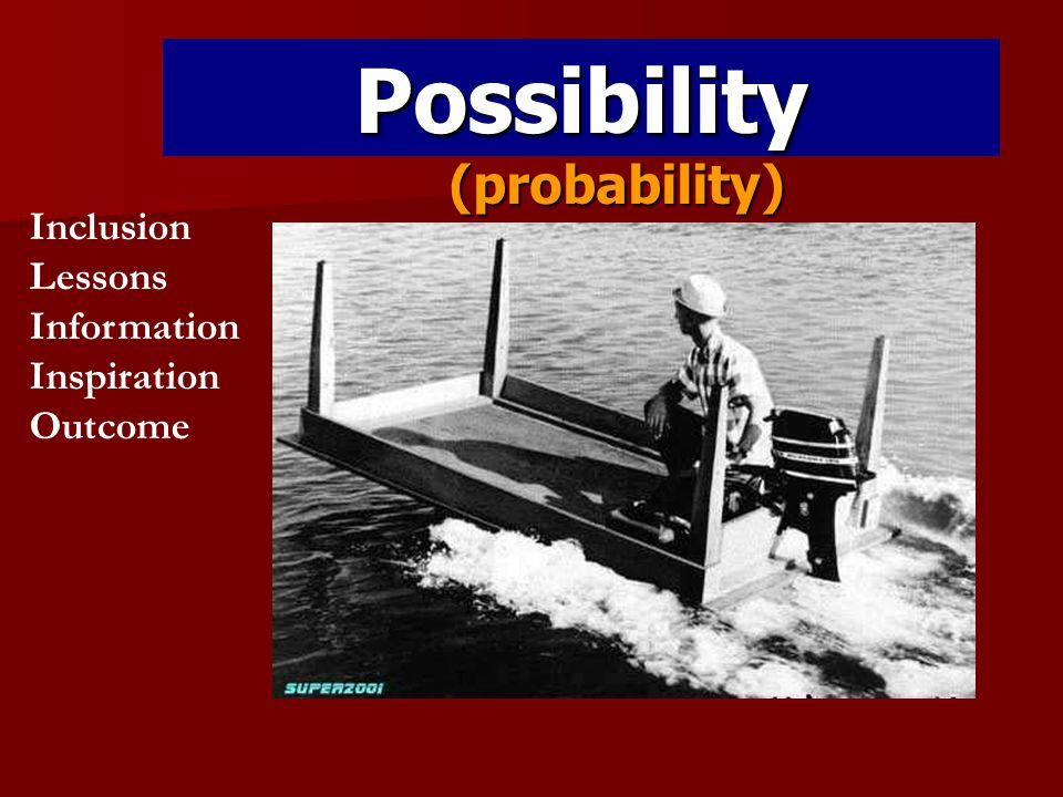 Possibility (probability) Inclusion Lessons Information Inspiration Outcome