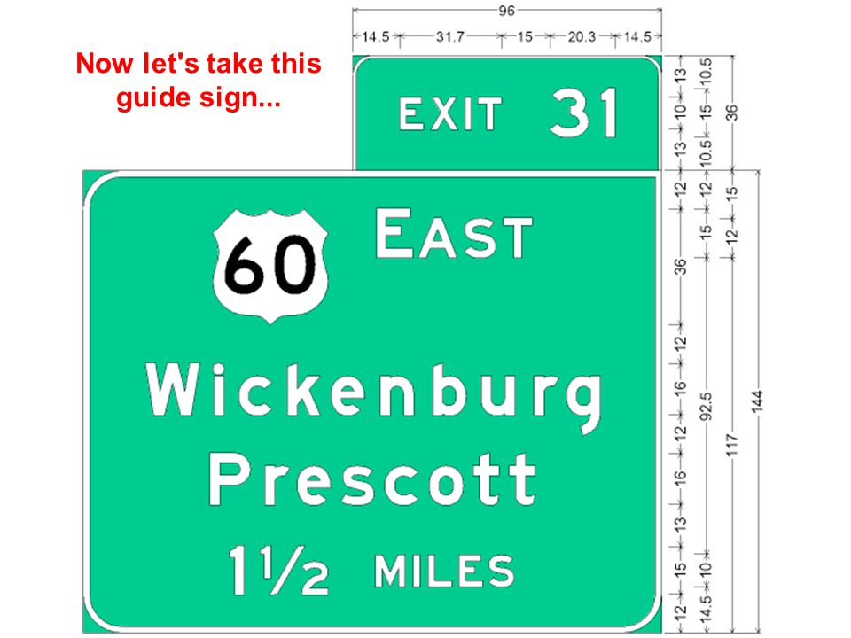 Now let s take this guide sign...