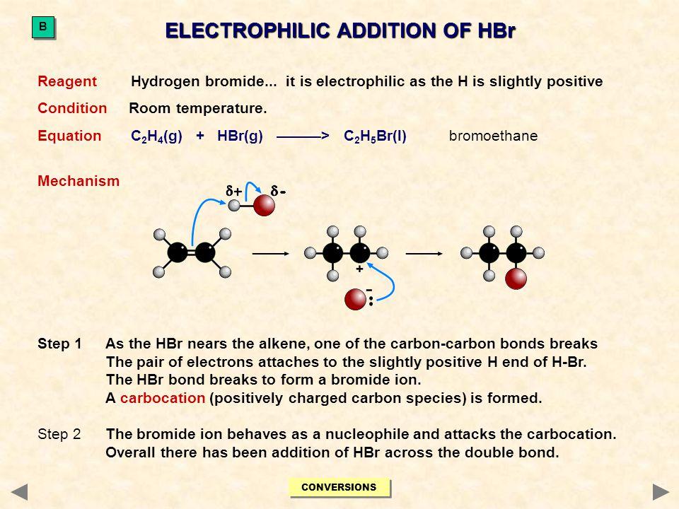 Reagent Bromine.
