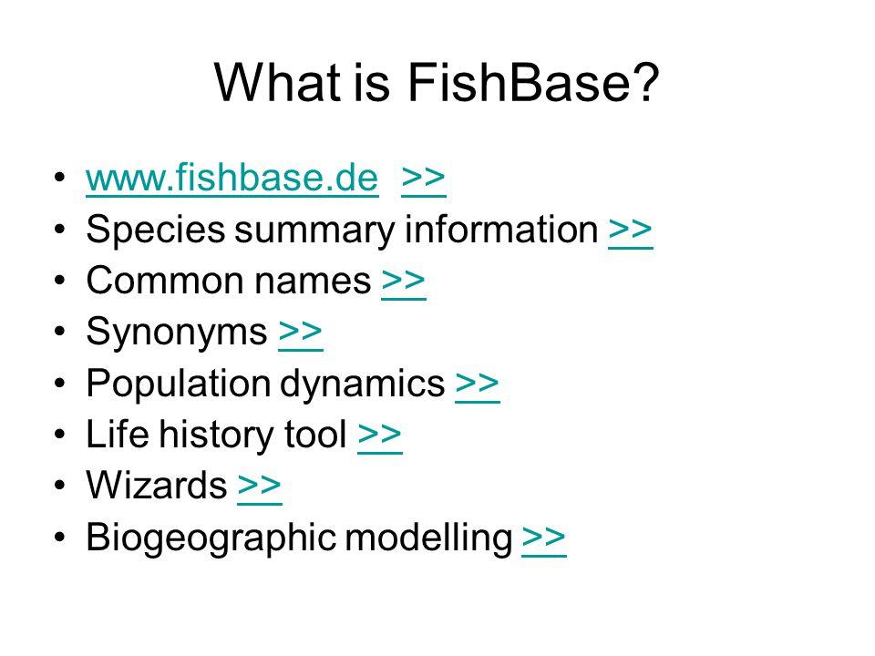 FishBase vs Internet Usage Source for Internet growth: NUA Internet Services