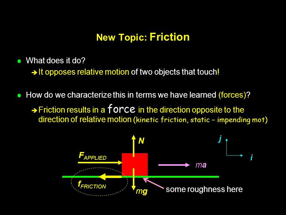 Static Friction...