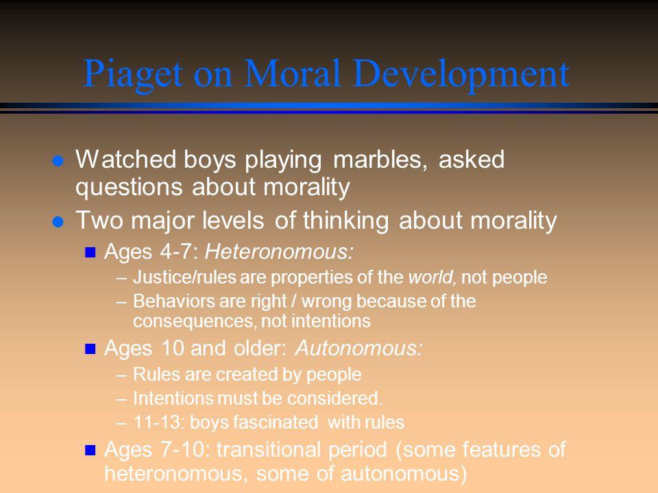 Moral Development Overview l Piaget on Moral Development l Kohlberg's System n Heinz Dilemma n Kohlberg's Stages l Moral Reasoning and Behavior l Gill