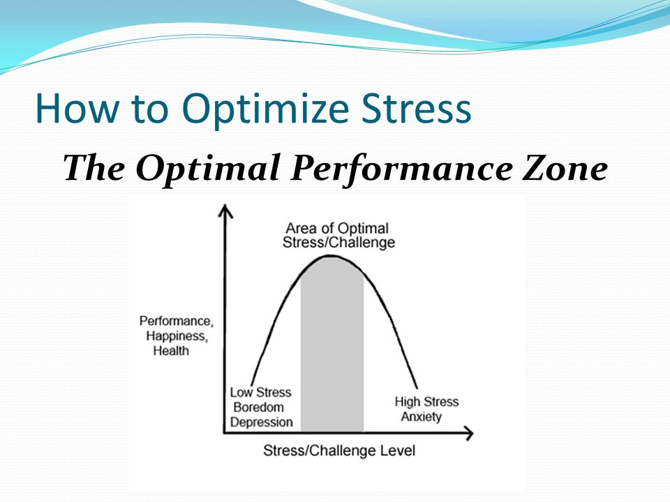 How to Optimize Stress The Optimal Performance Zone