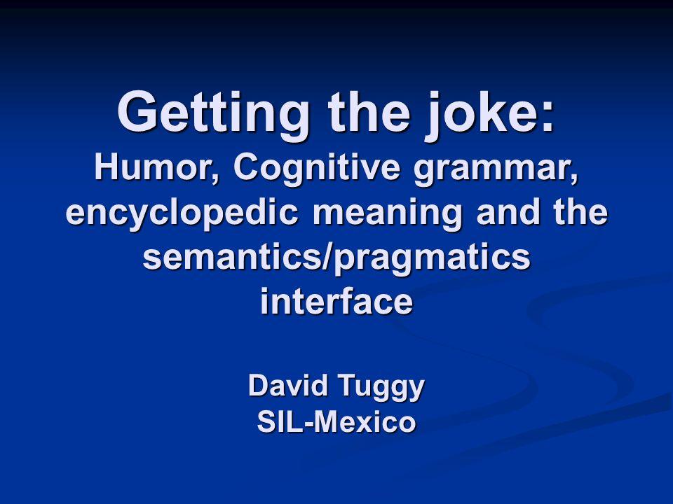 Semantic or pragmatic connections.