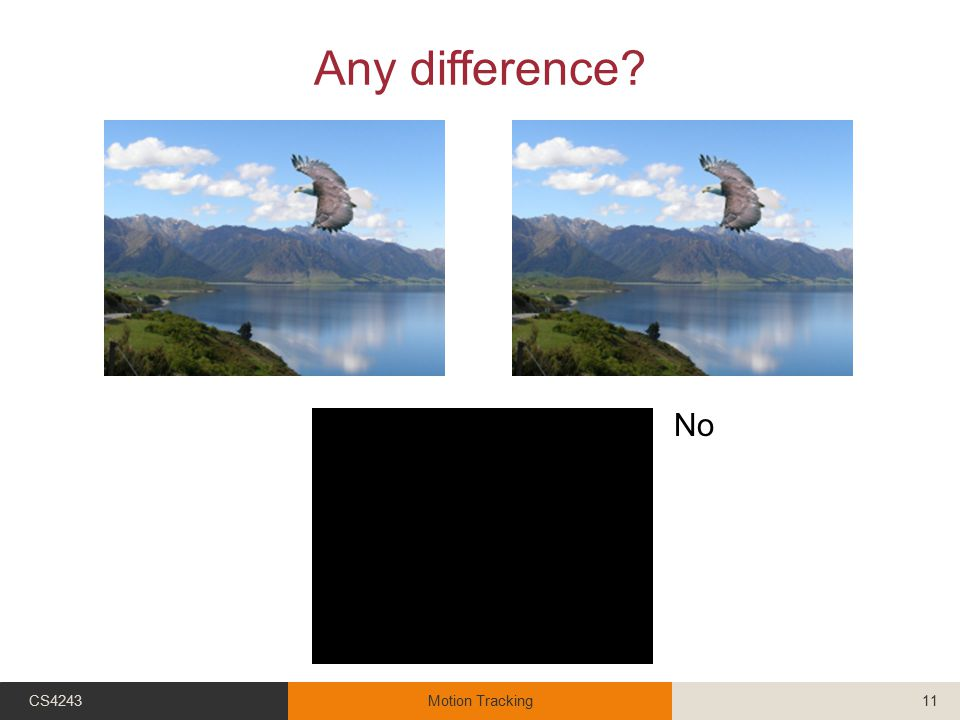 Any difference? CS4243Motion Tracking11 No