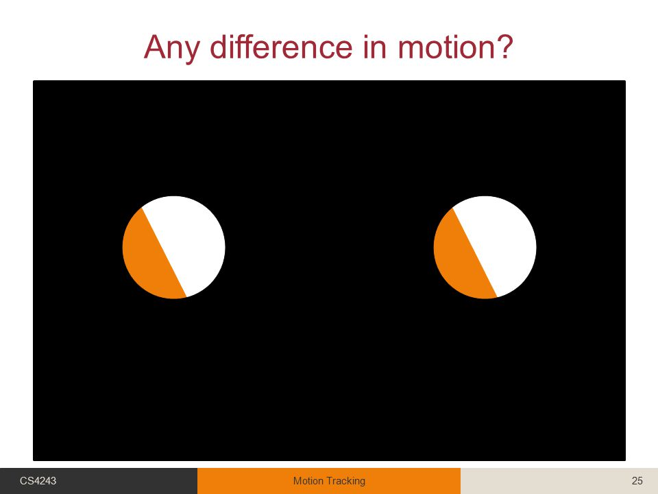 Any difference in motion? CS4243Motion Tracking25
