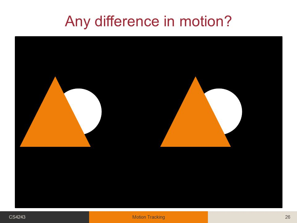 Any difference in motion CS4243Motion Tracking26