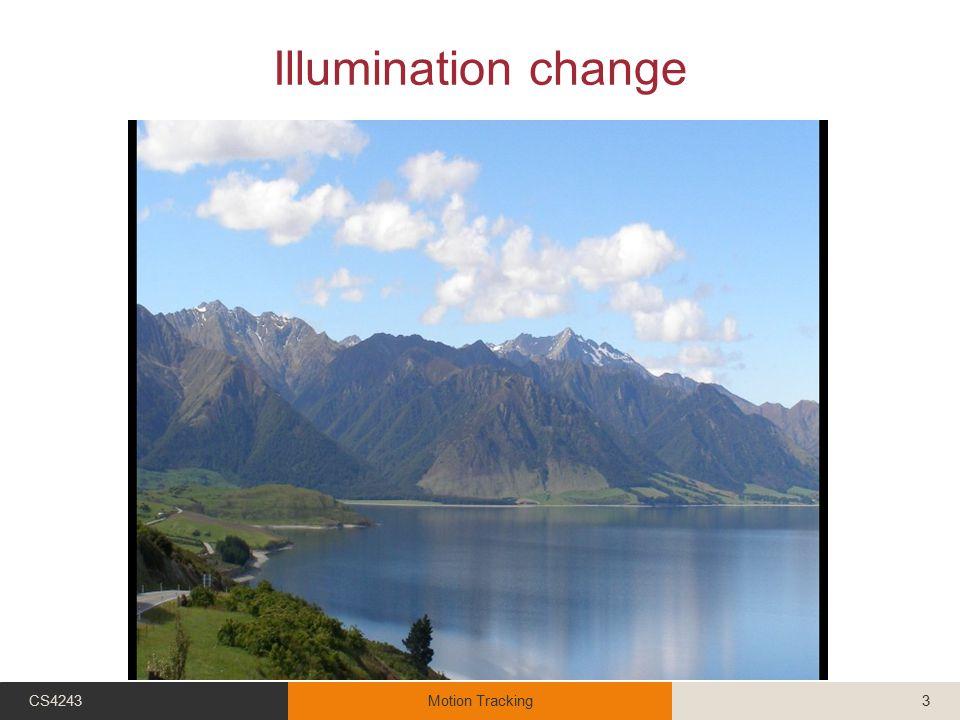 Illumination change CS4243Motion Tracking3