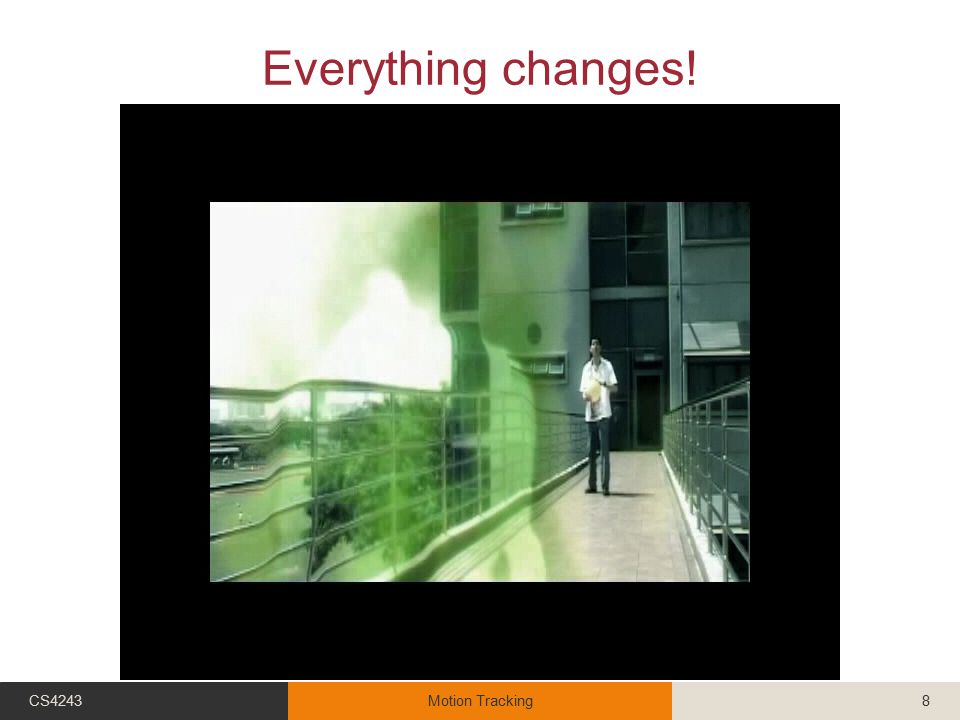 Everything changes! CS4243Motion Tracking8