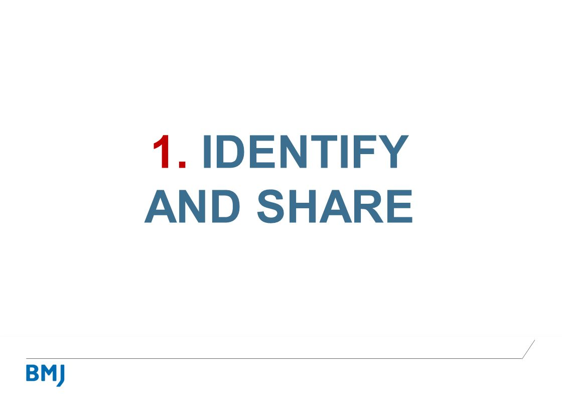 1. IDENTIFY AND SHARE