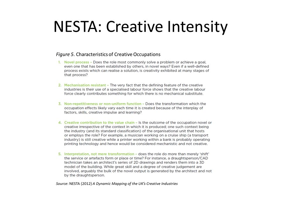 NESTA: Creative Intensity