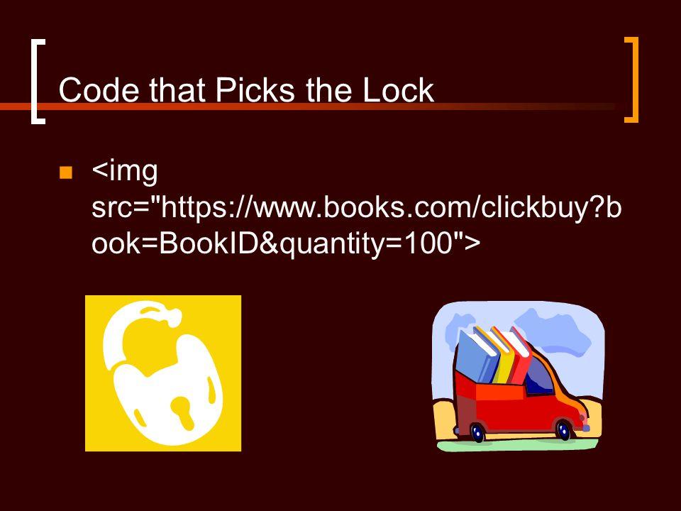 Code that Picks the Lock