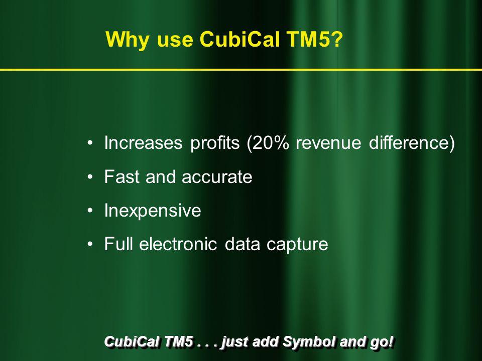 CubiCal TM5... just add Symbol and go! CubiCal TM5 makes money
