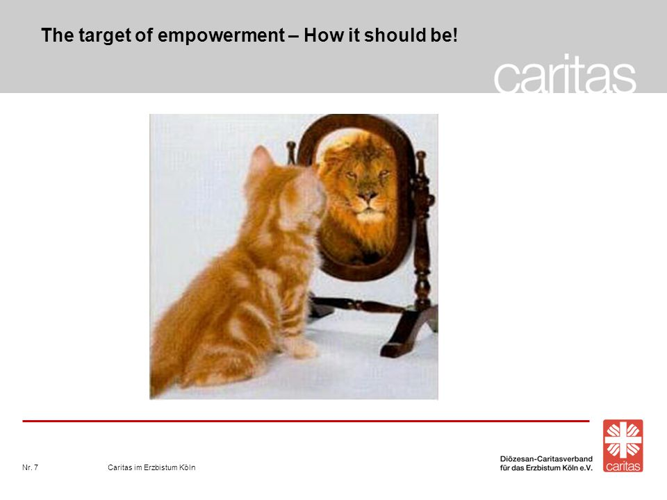 Caritas im Erzbistum KölnNr.8 How to reach the target.
