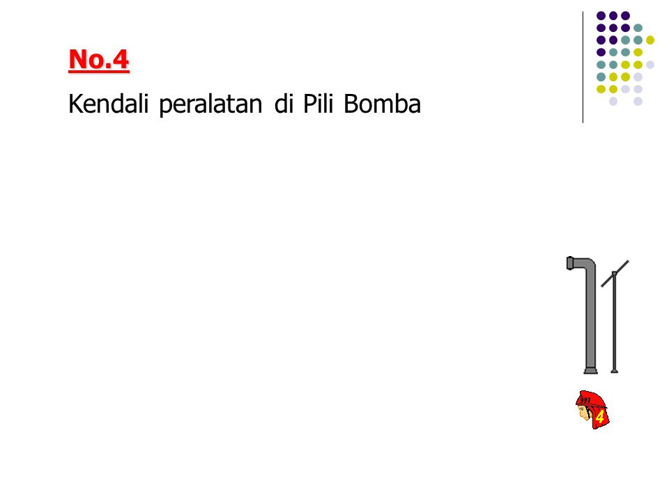 No.4 Kendali peralatan di Pili Bomba