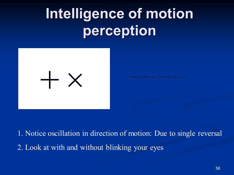 50 Intelligence of motion perception 1.