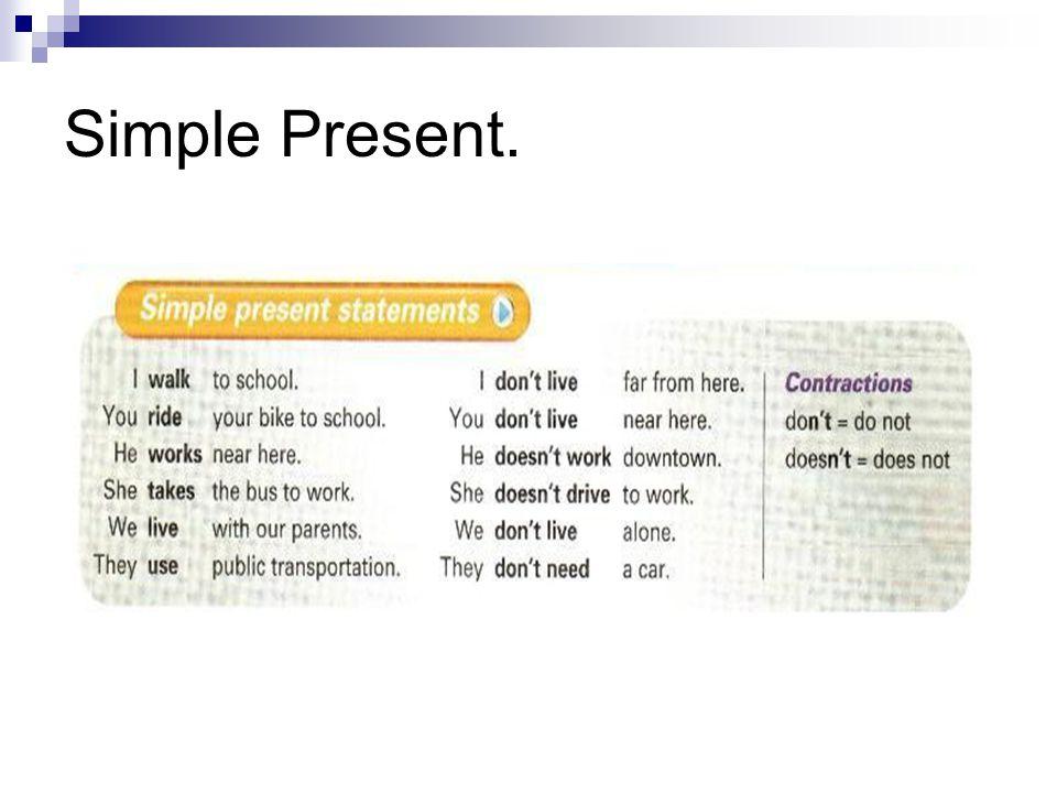 Simple Present.