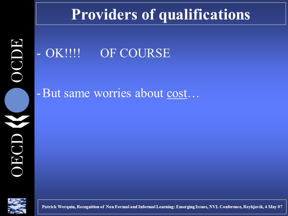 Providers of qualifications - OK!!!.