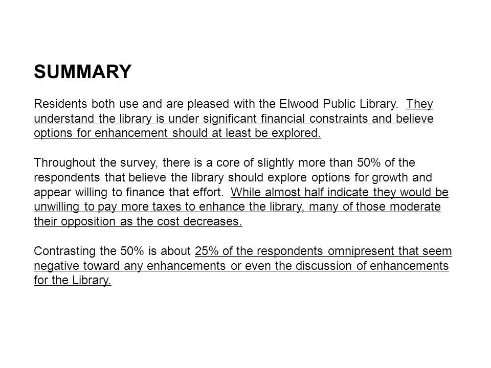 If YES to Q1: Would you describe the Elwood Public Library as your primary public library, or is there another public library that you utilize.