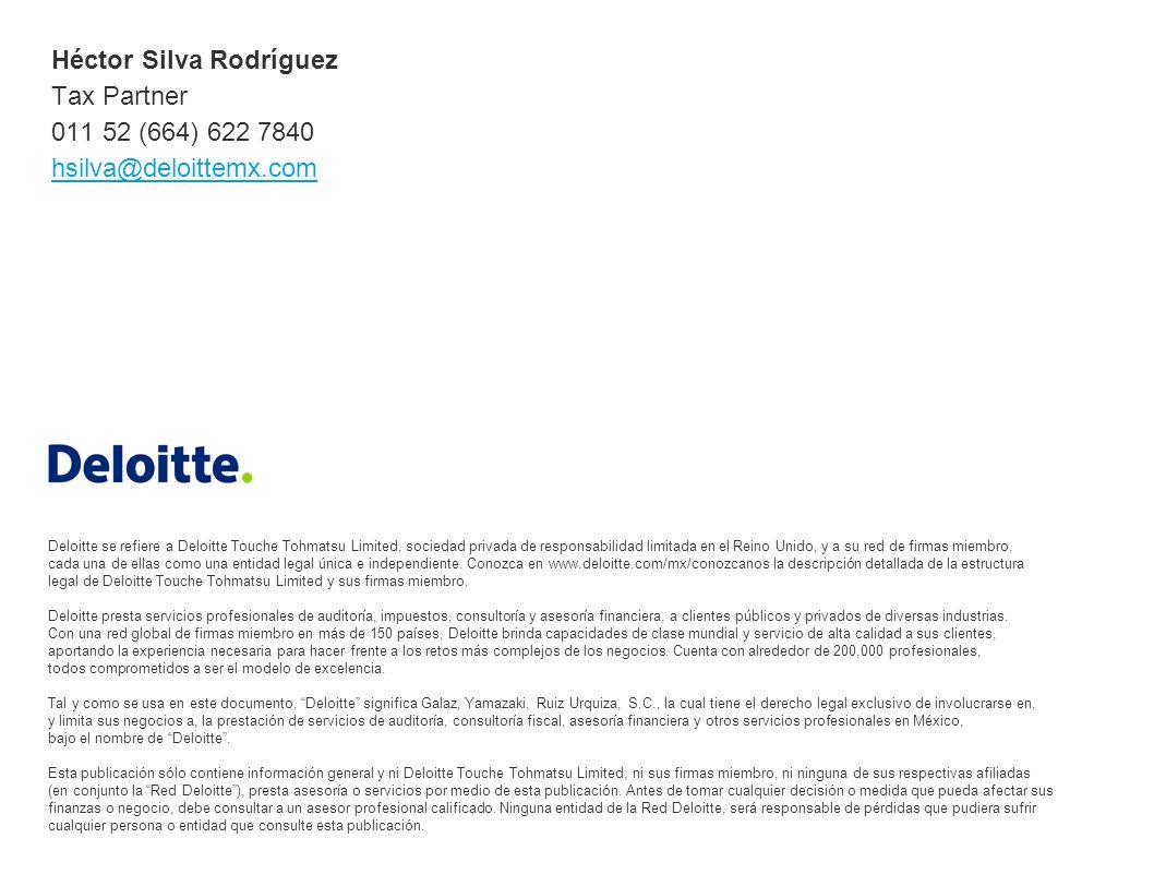 Deloitte se refiere a Deloitte Touche Tohmatsu Limited, sociedad privada de responsabilidad limitada en el Reino Unido, y a su red de firmas miembro, cada una de ellas como una entidad legal única e independiente.