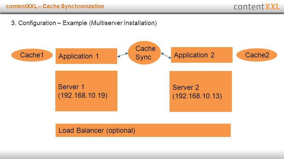 Titelmasterformat durch Klicken bearbeitencontentXXL – Cache Synchronization 3. Configuration – Example (Multiserver Installation) Server 1 (192.168.1