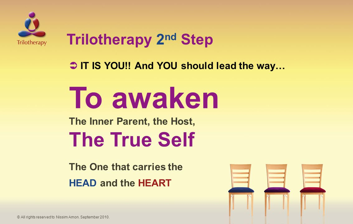 Trilotherapy 2 nd Step  IT IS YOU!.