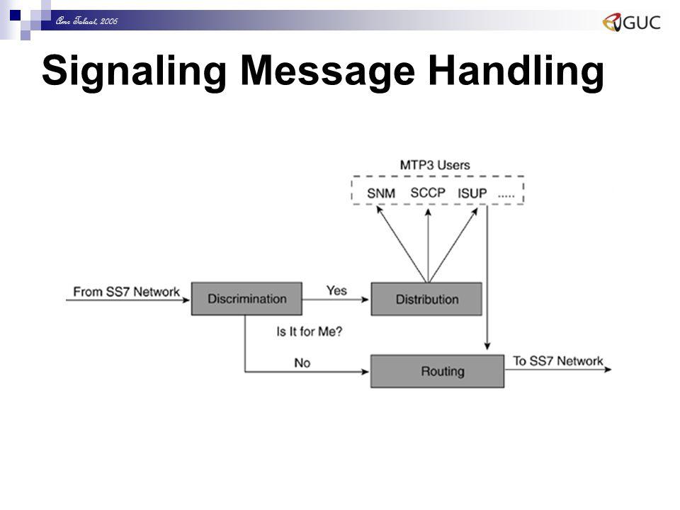 Amr Talaat, 2006 Signaling Message Handling