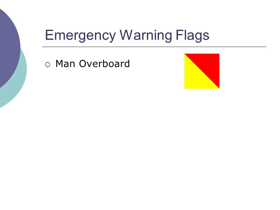 Emergency Warning Flags  Man Overboard