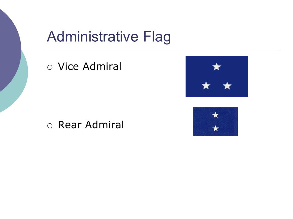 Administrative Flag  Vice Admiral  Rear Admiral