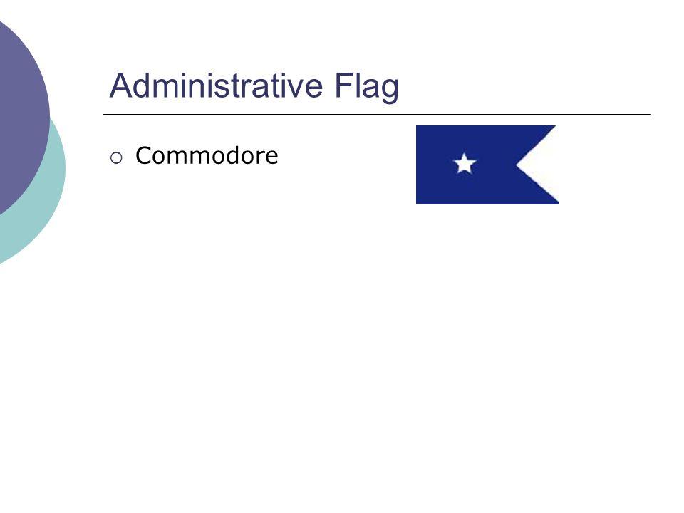 Administrative Flag  Commodore