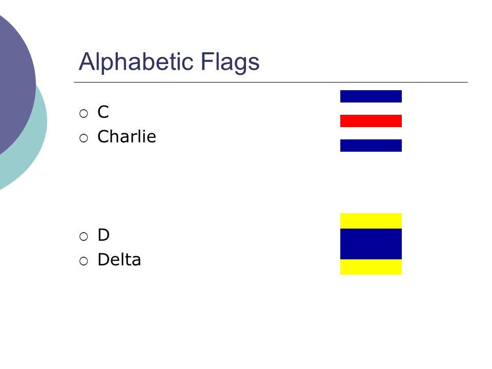 Alphabetic Flags  C  Charlie  D  Delta