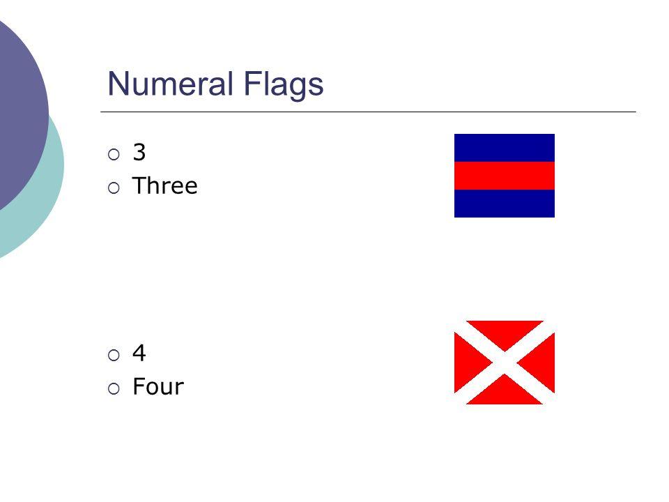 Numeral Flags  3  Three  4  Four