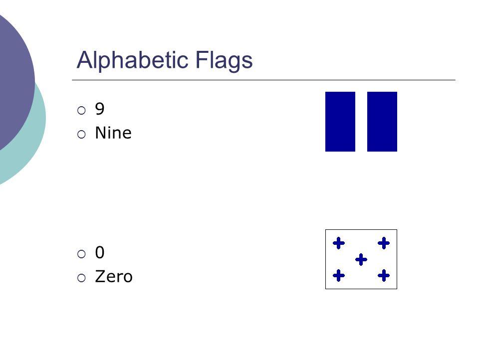 Alphabetic Flags  9  Nine  0  Zero