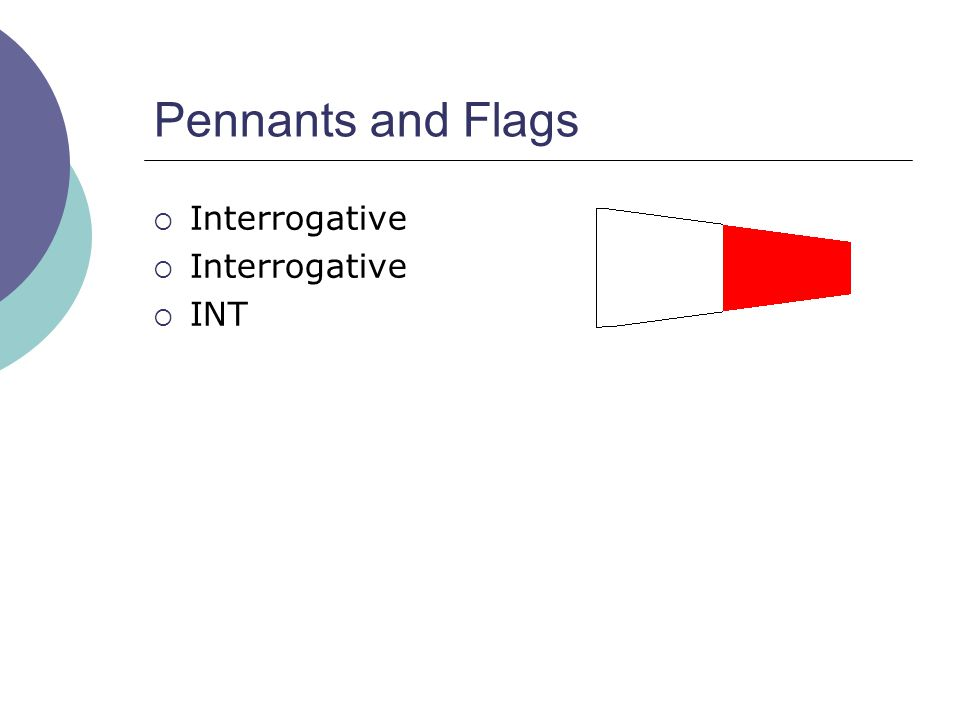 Pennants and Flags  Interrogative  INT