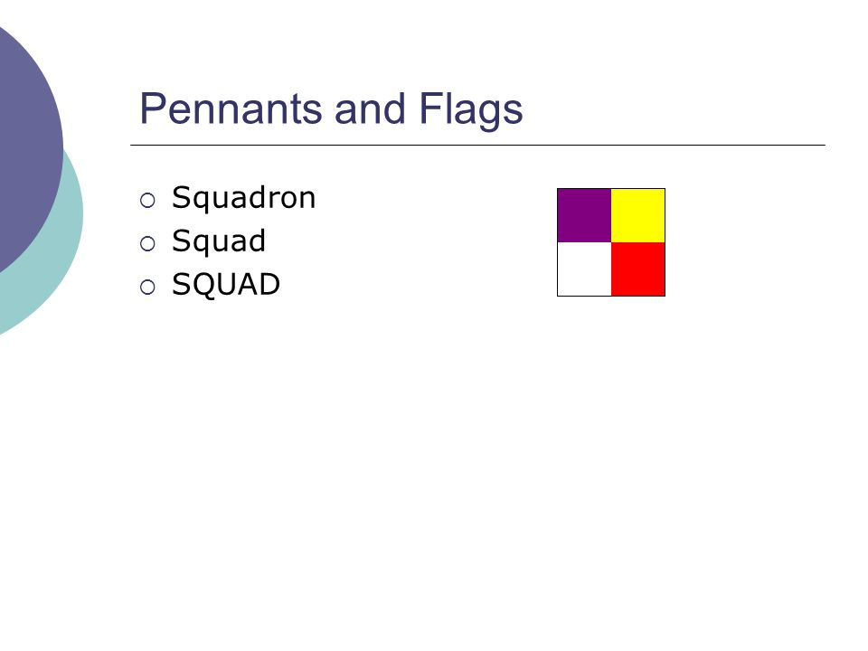 Pennants and Flags  Squadron  Squad  SQUAD