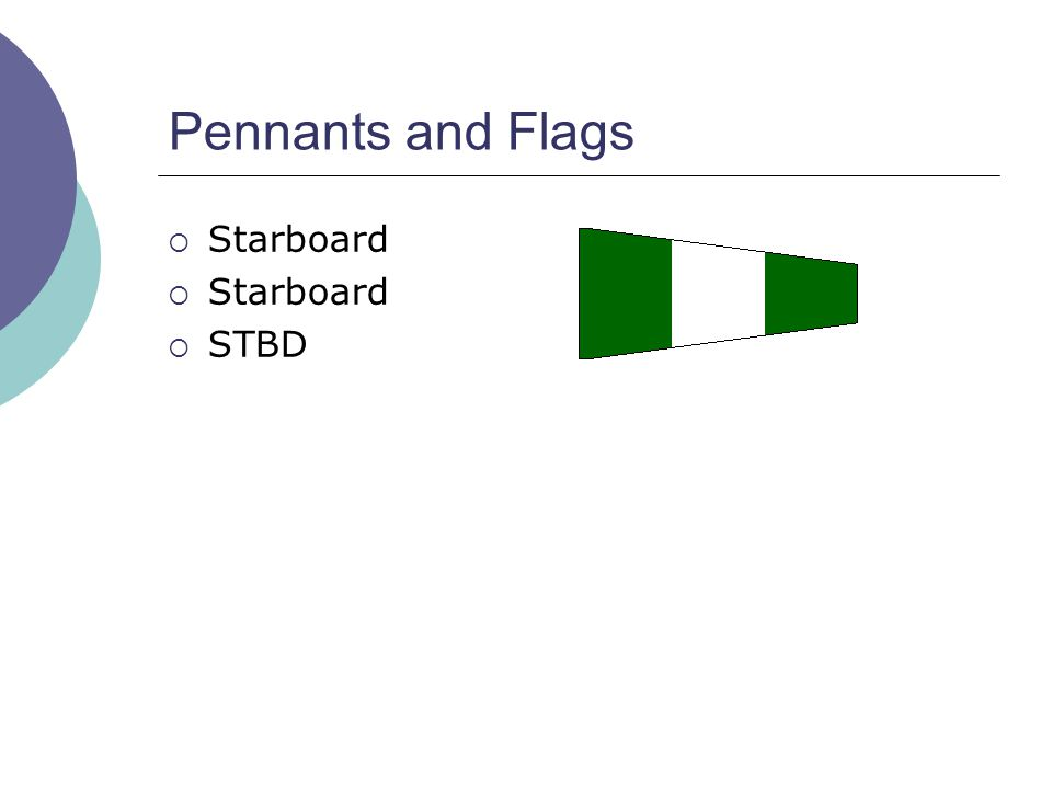 Pennants and Flags  Starboard  STBD