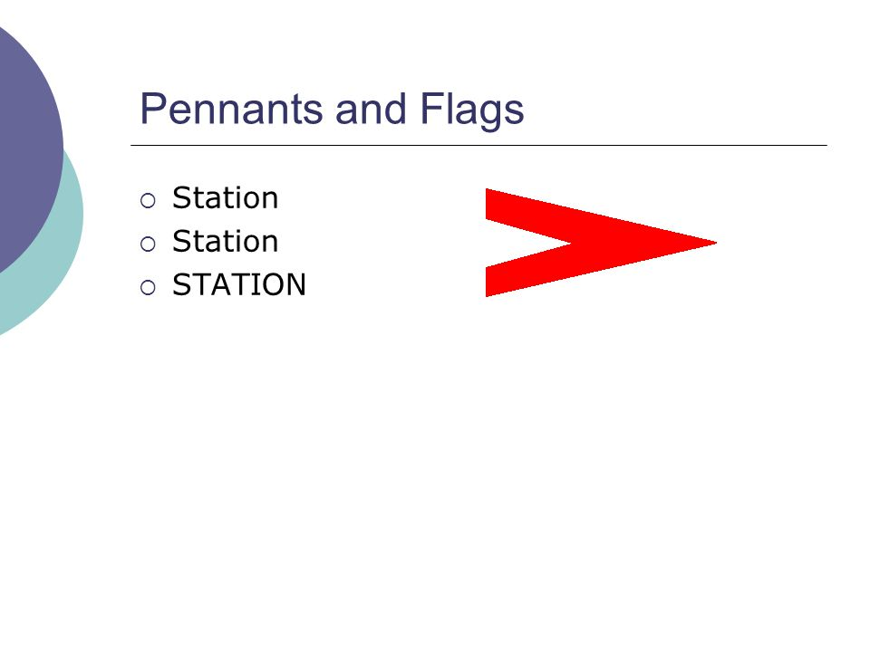 Pennants and Flags  Station  STATION