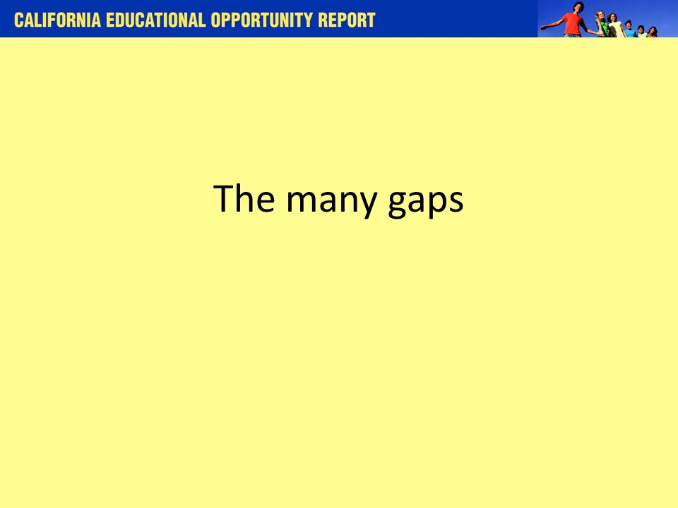 The many gaps