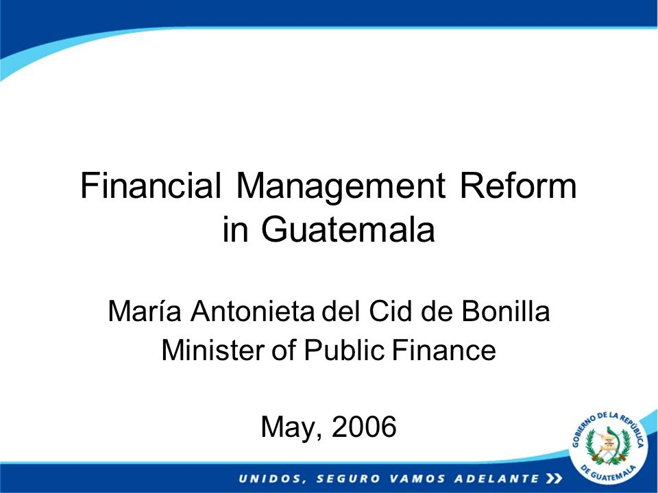 Reforms in the governmental control In 2002, a new Organic Law of the Nation´s Comptrollership was approved, with the objective to modernize and strengthen the instruments and procedures of the governmental control.