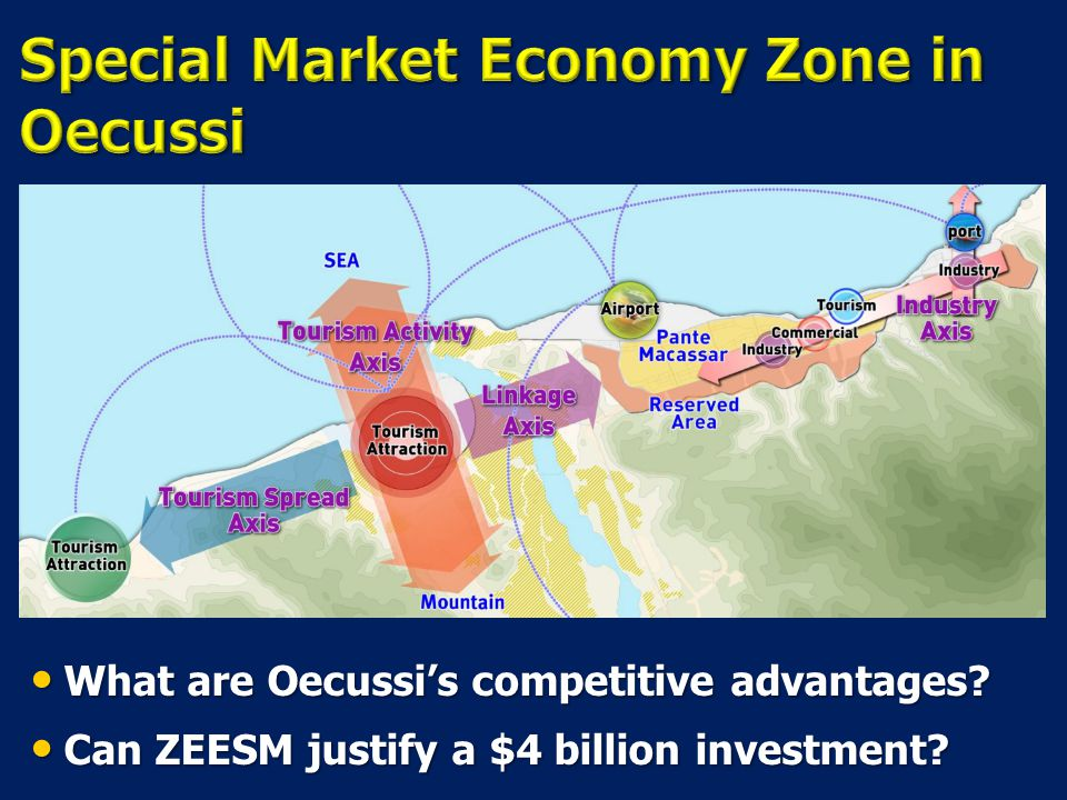What are Oecussi's competitive advantages. What are Oecussi's competitive advantages.