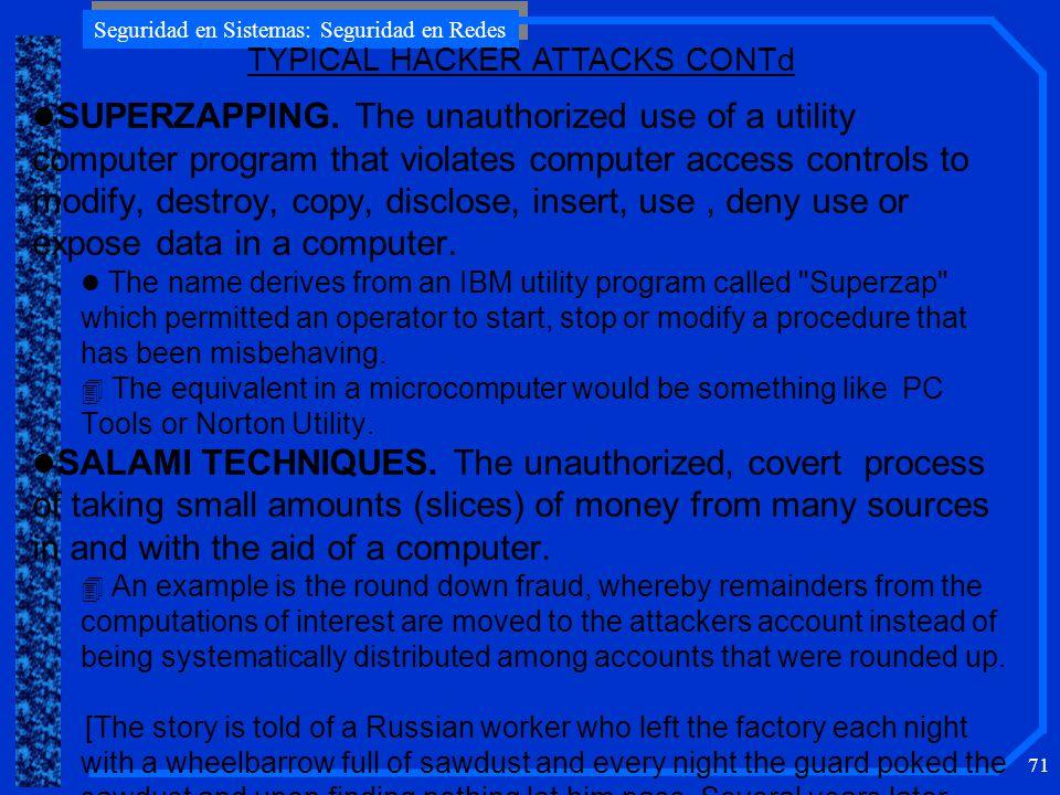 Seguridad en Sistemas: Seguridad en Redes 71 l SUPERZAPPING.