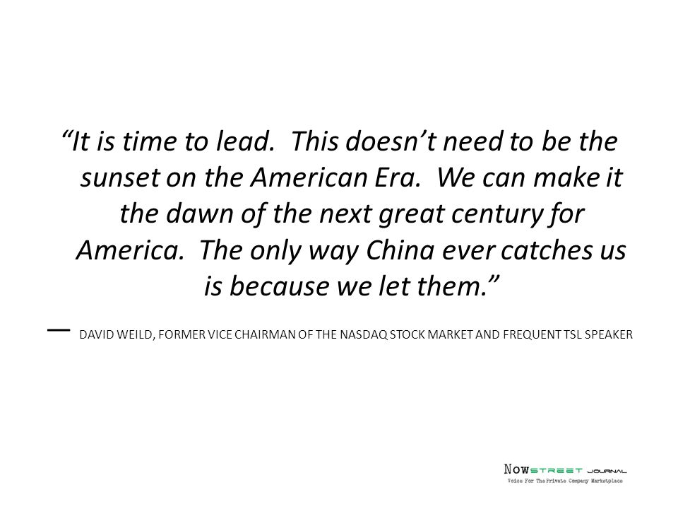 It is time to lead.This doesn't need to be the sunset on the American Era.