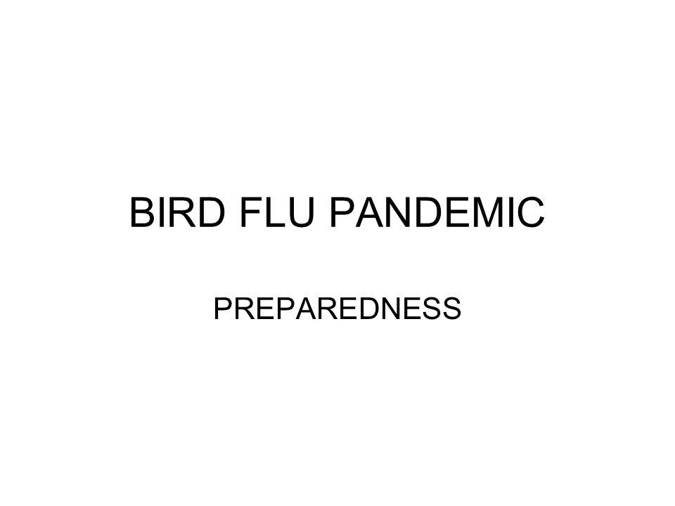 BIRD FLU PANDEMIC PREPAREDNESS