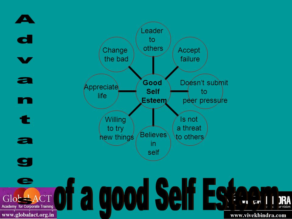 What can you do to build your self-esteem when you get out in the real world .